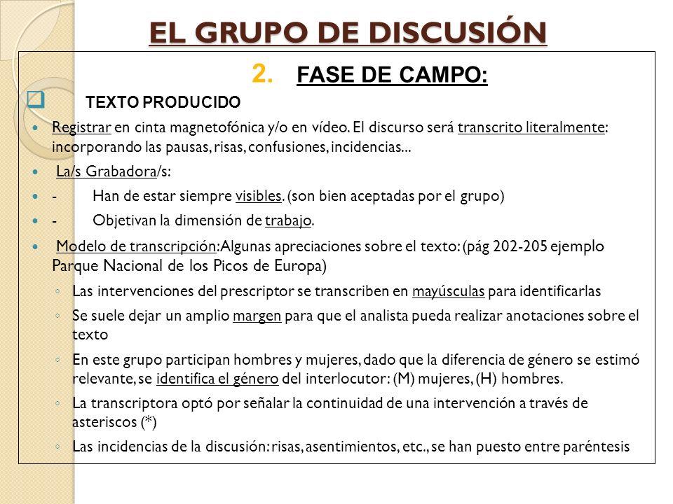 EL GRUPO DE DISCUSIÓN 3.