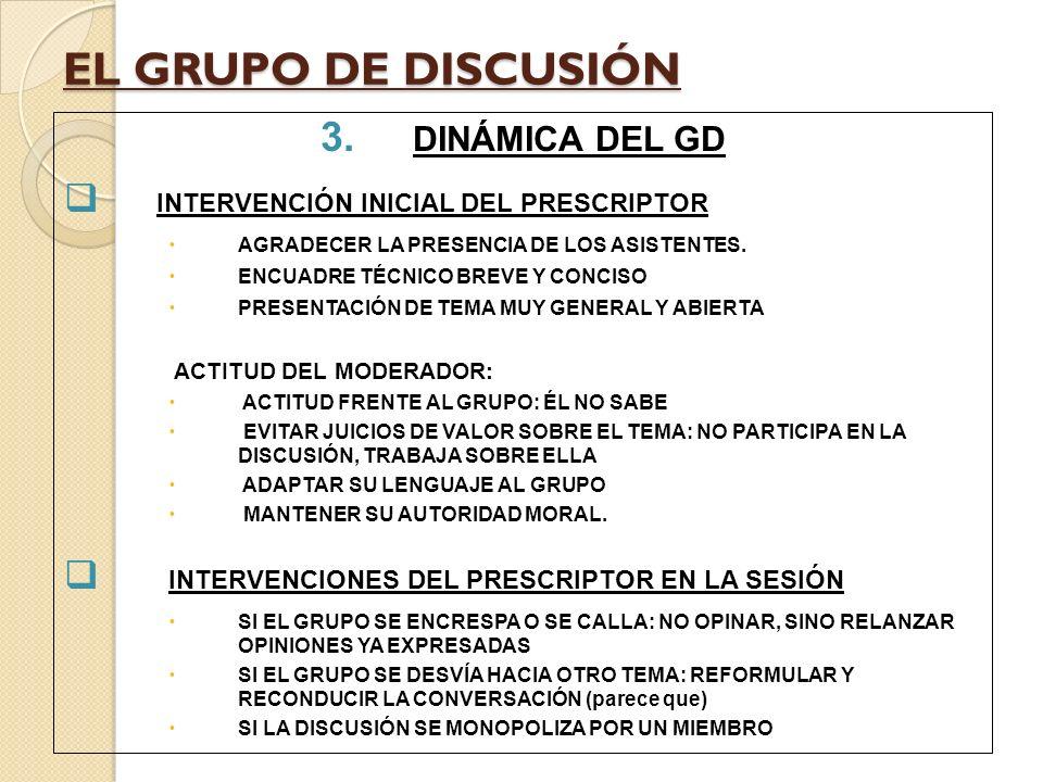 EL GRUPO DE DISCUSIÓN 4.