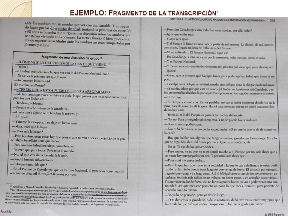 PAG 207.SÍNTESIS DE GD 2. TABLA 4.3 EJEMPLO: ANALISIS E INFORME PAG 207.