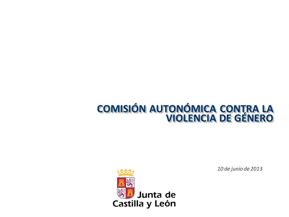 COMISIÓN AUTONÓMICA CONTRA LA VIOLENCIA DE GÉNERO 10 de junio de 2013