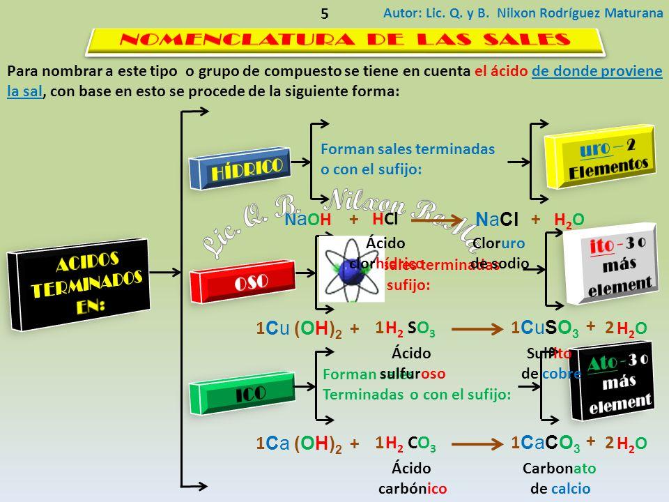 Diga el nombre correcto para el siguiente compuesto teniendo en cuenta las normas establecidas por la nomenclatura IUPAC: Autor: Lic.