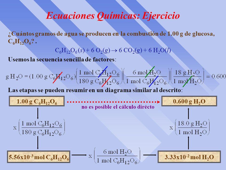 Ecuaciones Químicas: Metodología El diagrama siguiente resume el método general utilizado para calcular las cantidades de sustancias que se consumen o