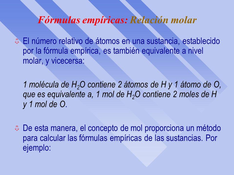 ESTEQUIOMETRÍA: Fórmulas Químicas IES Pando Departamento de Física y Química Química ESO Capítulo 3: parte B