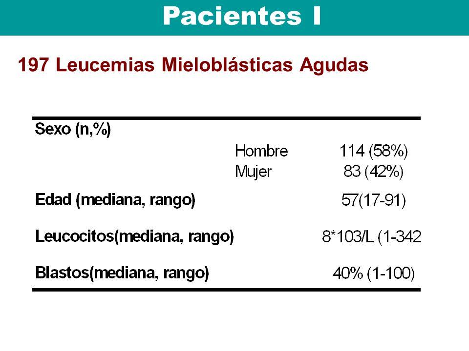 197 Leucemias Mieloblásticas Agudas Pacientes I