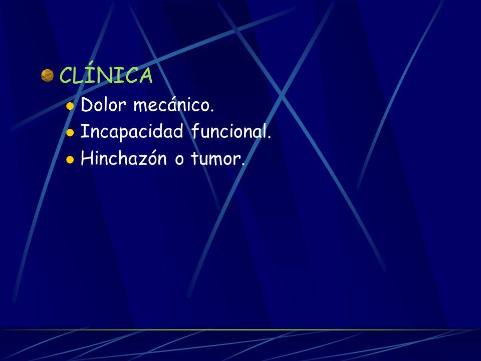 FISIOPATOLOGÍA Y CLÍNICA FISIOPATOLOGÍA Degeneración del cartílago (nichos). Nichos osteolíticos ó geodas. Radiológicamente: esclerosis subcondral. Re
