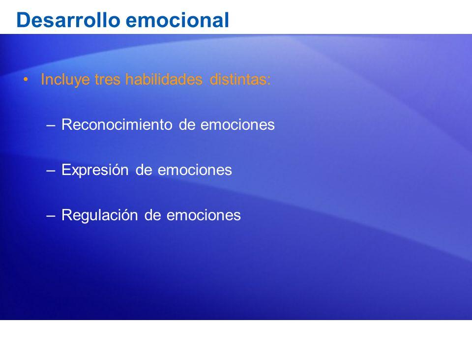 La expresión emocional Aparecen muy pronto en nuestro devenir como humanos: –En los primeros días de vida ya aparecen expresiones de interés, asco y malestar, y sonrisas en algunos estados fisiológicos.