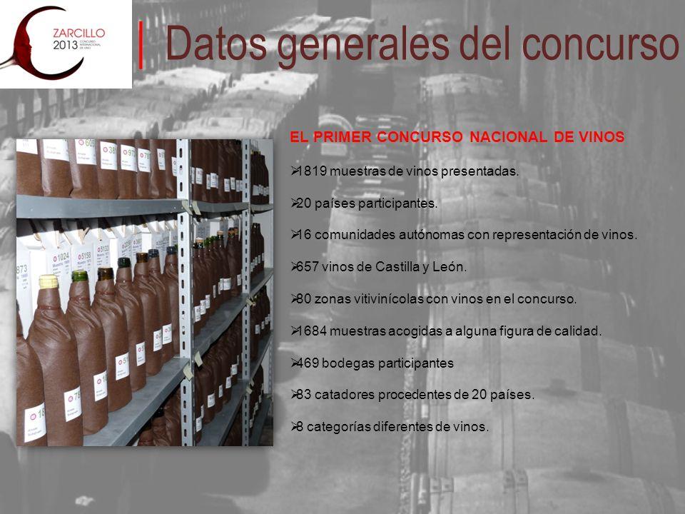 EL PRIMER CONCURSO NACIONAL DE VINOS 1819 muestras de vinos presentadas. 20 países participantes. 16 comunidades autónomas con representación de vinos