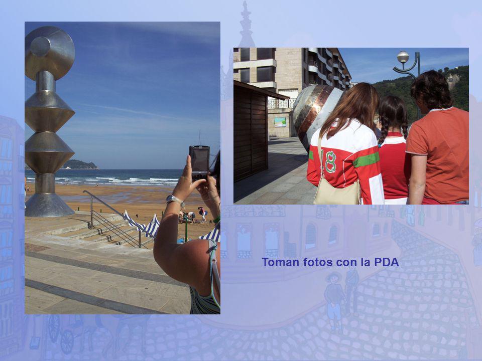 Toman fotos con la PDA