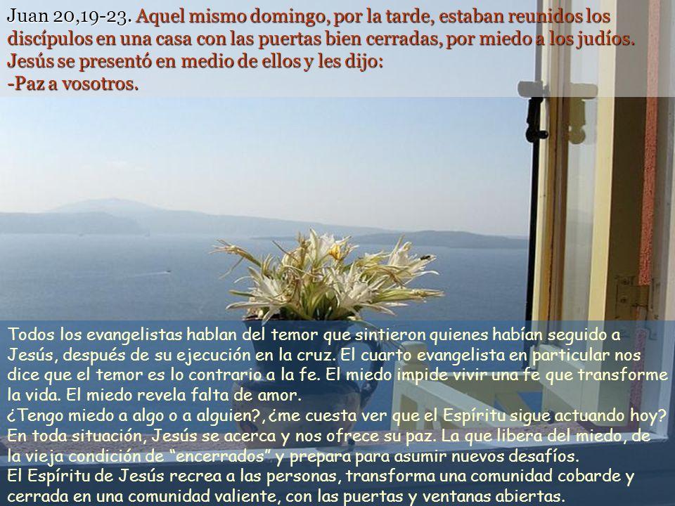 No habéis recibido un espíritu de esclavos, para recaer en el temor, sino un espíritu de hijos que nos hace clamar ¡Abbá, Padre! (Rm 8, 15) Texto: Jua