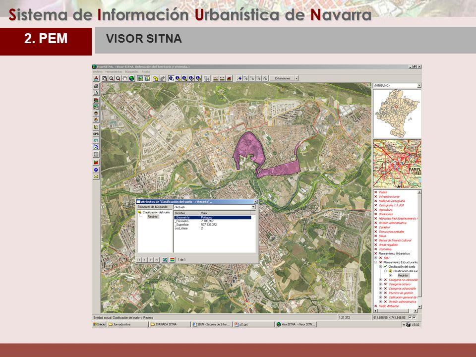 3. PEM Sistema de Información Urbanística de Navarra VISOR SITNA 2. PEM