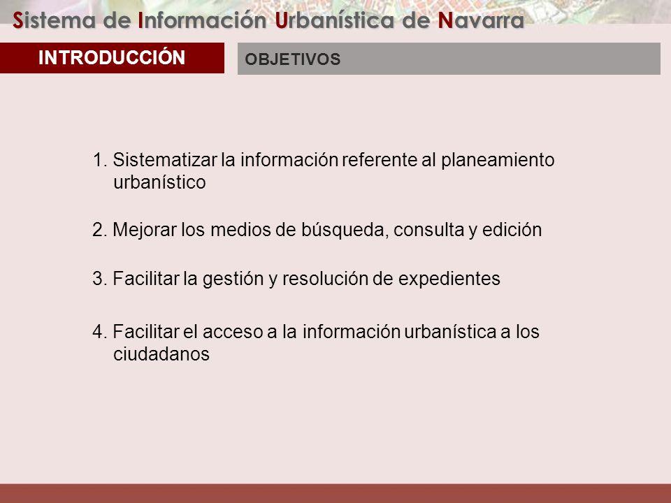Sistema de Información Urbanística de Navarra Convenio SIUN: Entre Entidades Locales y Dpto.