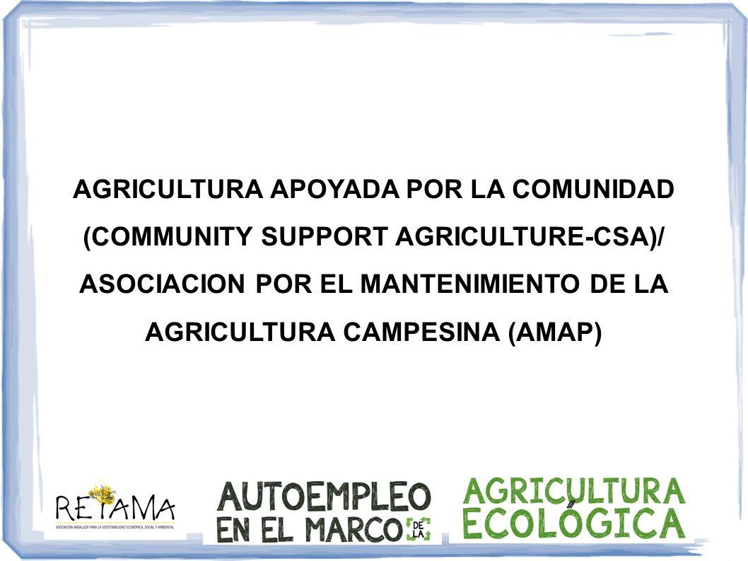 CSA-AMAP Ventajas ambos Relación directa productor-consumidor Precios más justos para ambos Empatía Posibilidad actividades conjuntas, ayuda mutua Problemas que han surgido ¿Solo productores ecológicos.
