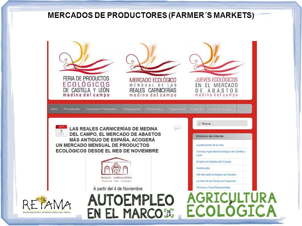 MERCADOS DE PRODUCTORES (FARMER´S MARKETS)