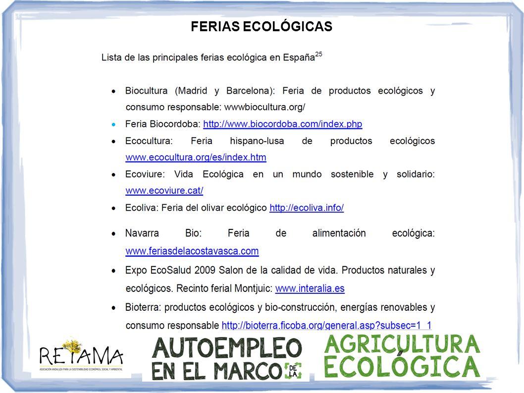 FERIAS ECOLÓGICAS
