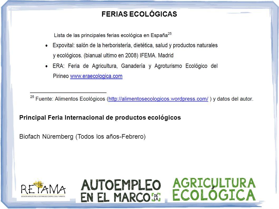 Principal Feria Internacional de productos ecológicos Biofach Nüremberg (Todos los años-Febrero)