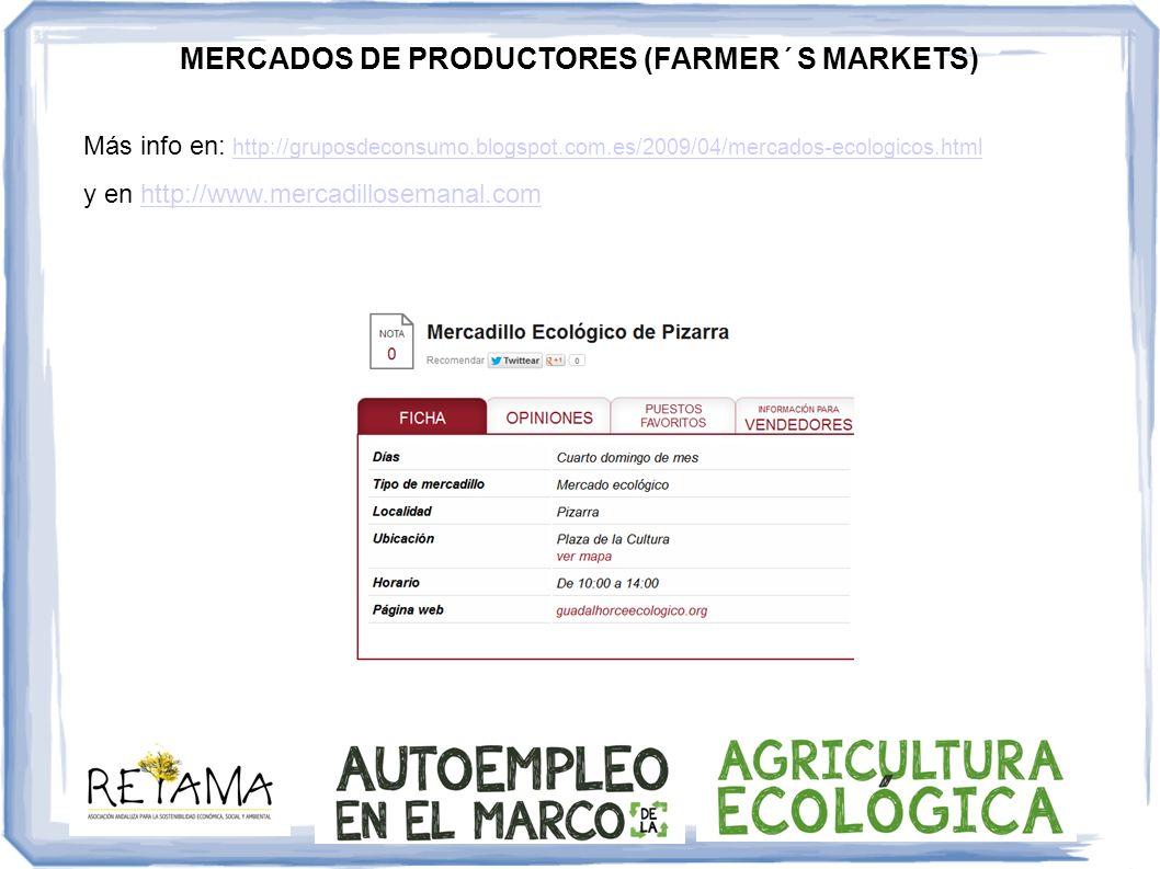 Más info en: http://gruposdeconsumo.blogspot.com.es/2009/04/mercados-ecologicos.htmlhttp://gruposdeconsumo.blogspot.com.es/2009/04/mercados-ecologicos