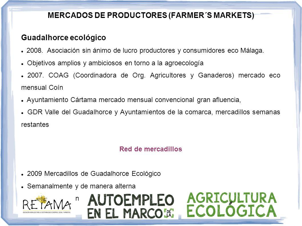Guadalhorce ecológico 2008. Asociación sin ánimo de lucro productores y consumidores eco Málaga. Objetivos amplios y ambiciosos en torno a la agroecol