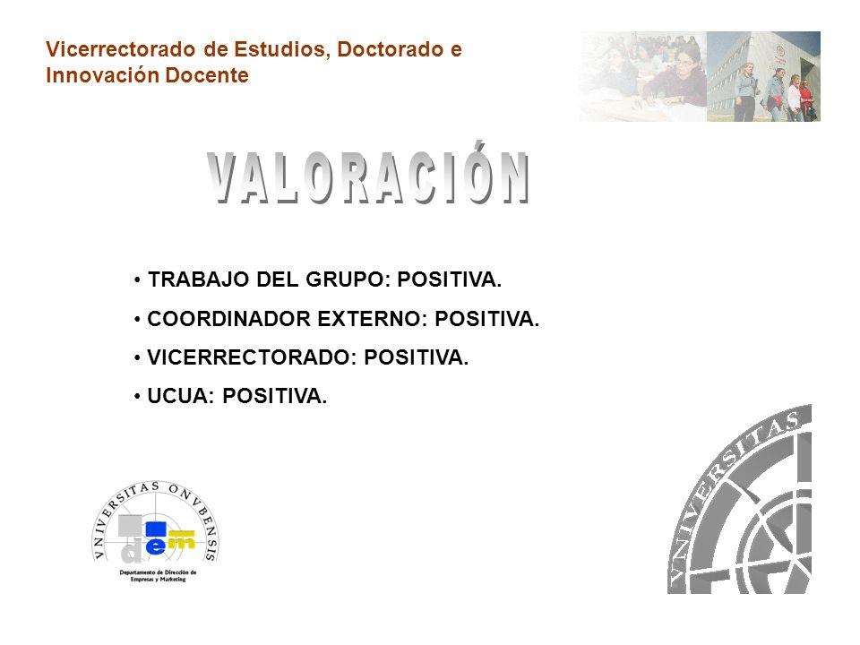 Vicerrectorado de Estudios, Doctorado e Innovación Docente FORMACIÓN EN DIDÁCTICA DE LA ENSEÑANZA VIRTUAL.