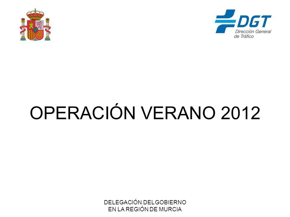 DELEGACIÓN DEL GOBIERNO EN LA REGIÓN DE MURCIA OPERACIÓN VERANO 2012