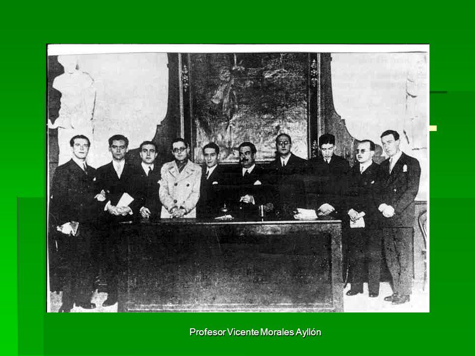 Profesor Vicente Morales Ayllón LA GENERACIÓN DEL 27 Grupo de autores que merece más que ningún otro el nombre de Generación.