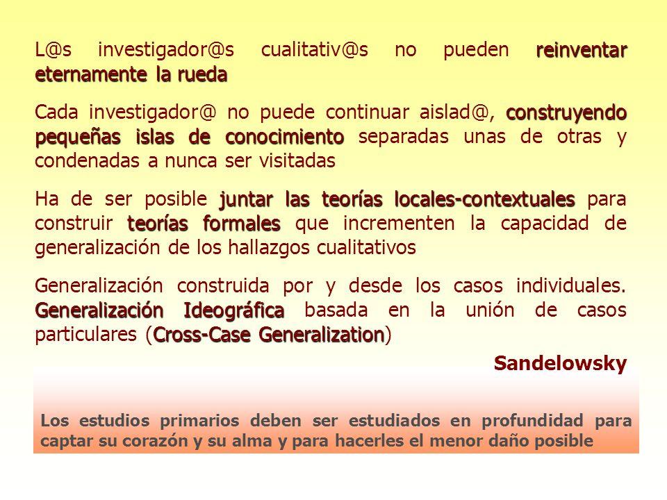 Desarrollada por M.Sandelowsky y J. Barroso.
