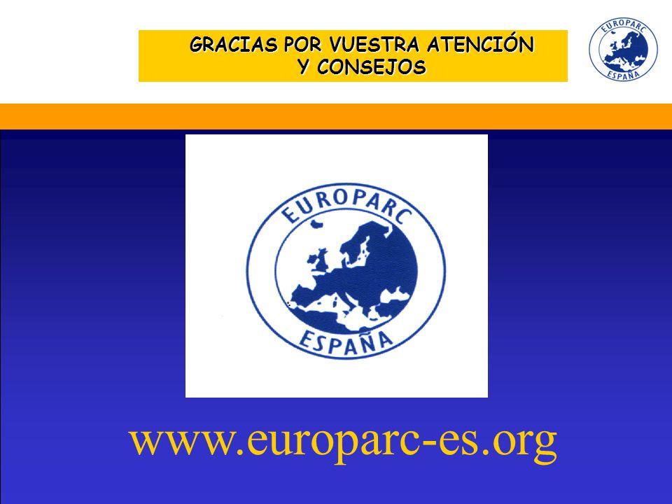 GRACIAS POR VUESTRA ATENCIÓN Y CONSEJOS www.europarc-es.org