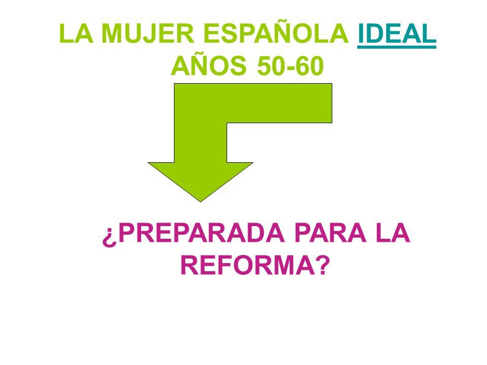 LA MUJER ESPAÑOLA IDEAL AÑOS 50-60IDEAL ¿PREPARADA PARA LA REFORMA?
