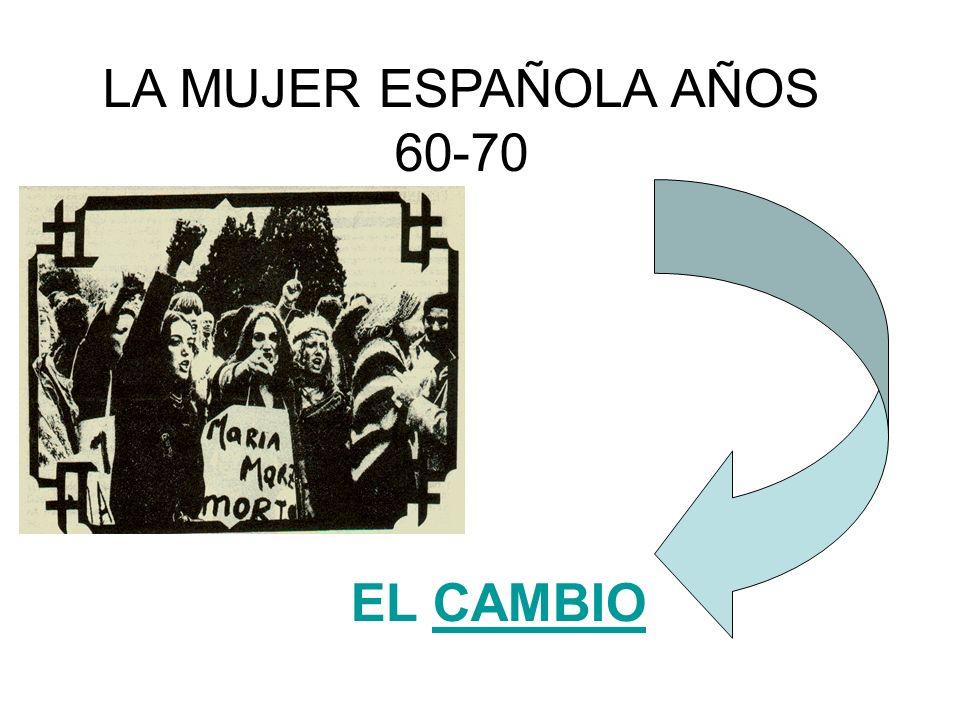 LA MUJER ESPAÑOLA AÑOS 60-70 EL CAMBIOCAMBIO