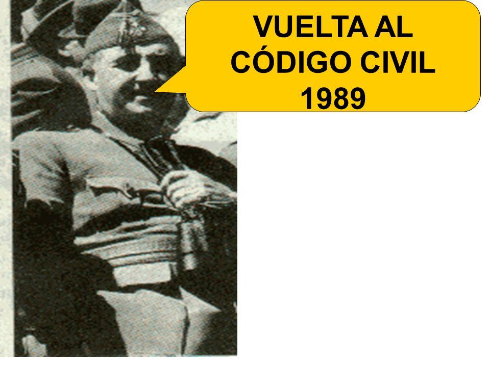 VUELTA AL CÓDIGO CIVIL 1989