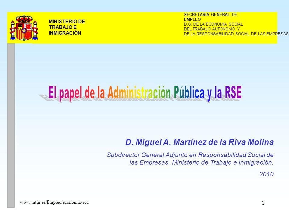 1 MINISTERIO DE TRABAJO E INMIGRACIÓN DEL TRABAJO AUTONOMO Y SECRETARIA GENERAL DE EMPLEO D.G.