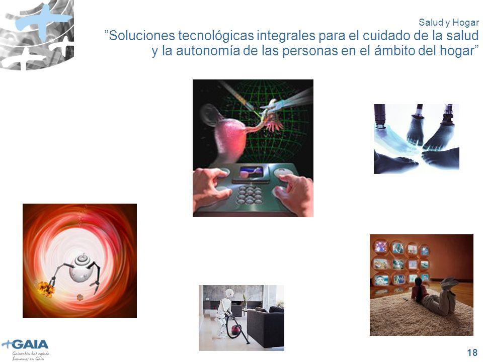 18 Salud y Hogar Soluciones tecnológicas integrales para el cuidado de la salud y la autonomía de las personas en el ámbito del hogar
