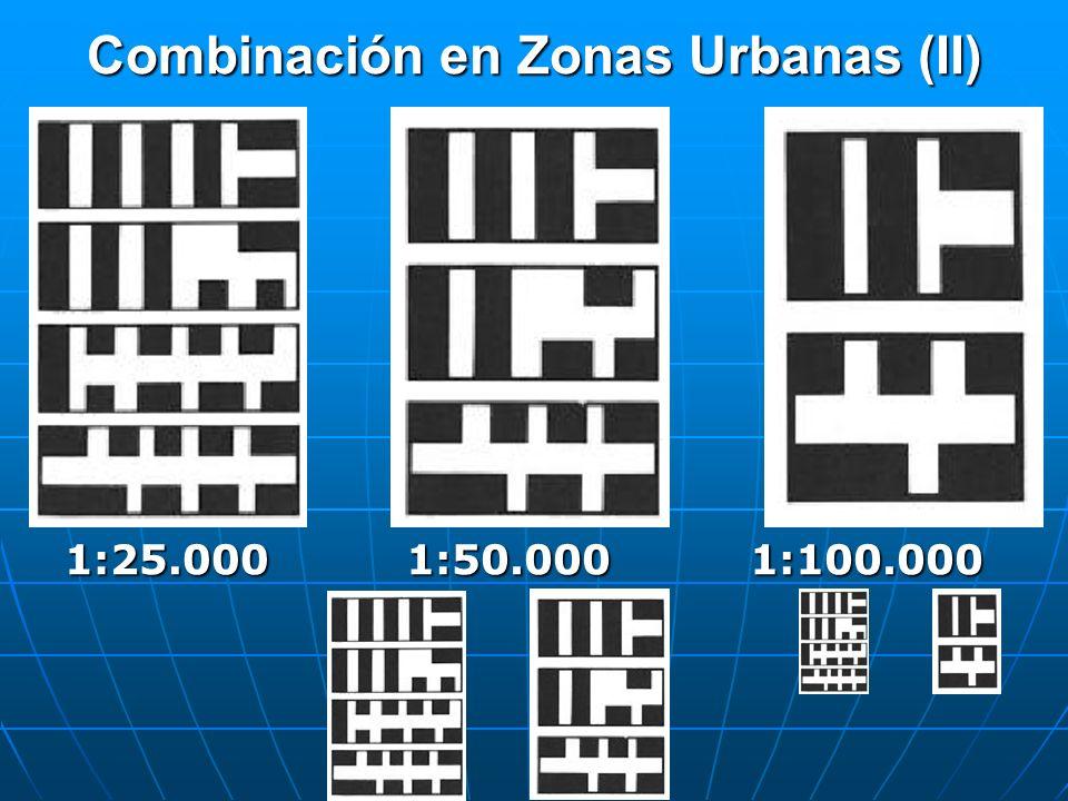 Combinación en Zonas Urbanas (II) 1:25.0001:50.0001:100.000