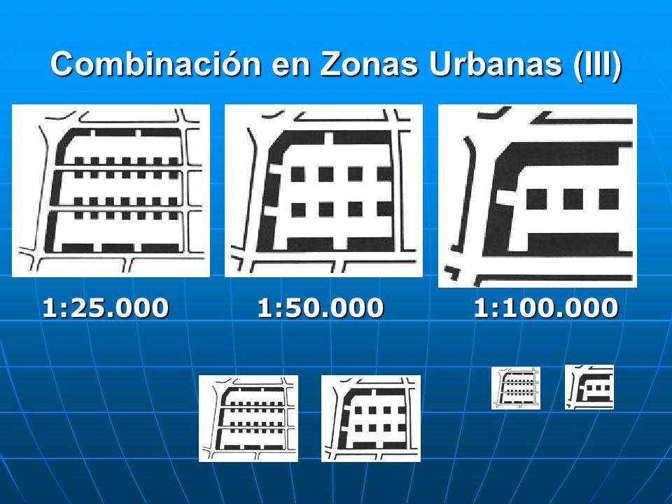 Combinación en Zonas Urbanas (III) 1:25.0001:50.0001:100.000