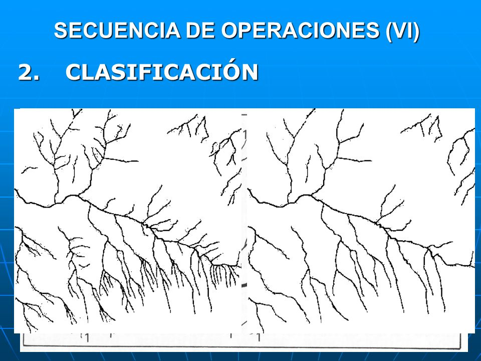 SECUENCIA DE OPERACIONES (VI) 2.CLASIFICACIÓN OBJETIVO: Clasificar jerárquicamente los datos.OBJETIVO: Clasificar jerárquicamente los datos. Según el