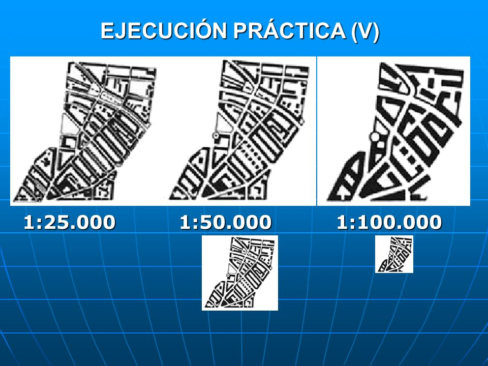 EJECUCIÓN PRÁCTICA (V) 1:25.0001:50.0001:100.000