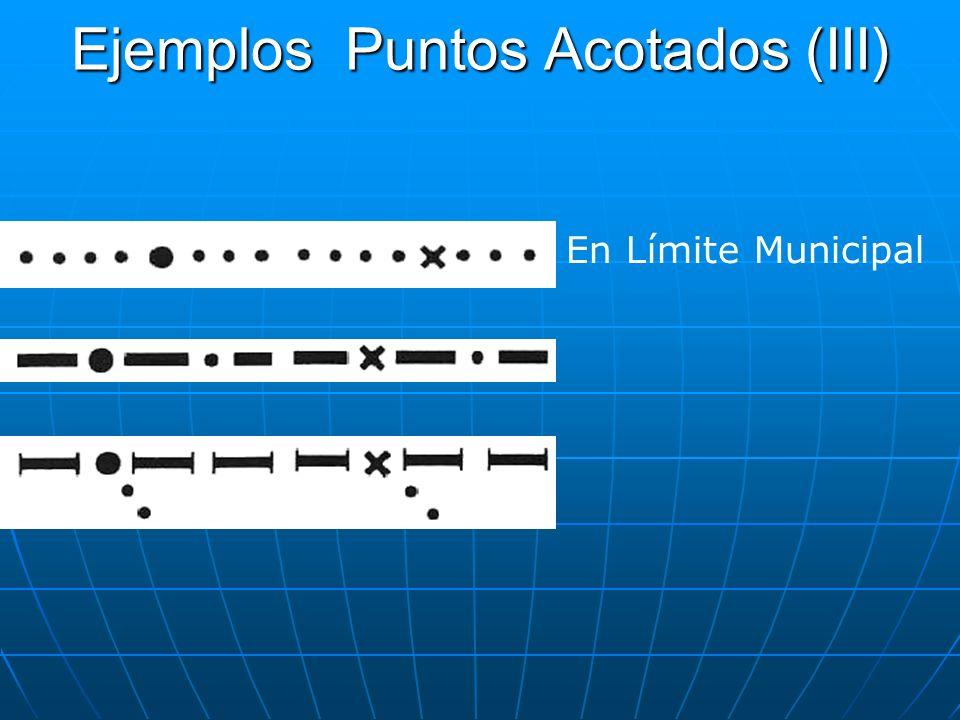 Ejemplos Puntos Acotados (III) En Límite Municipal