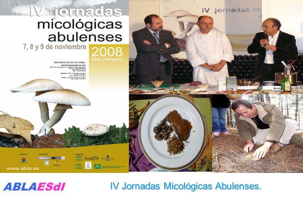 IV Jornadas Micológicas Abulenses. ABLAESdI