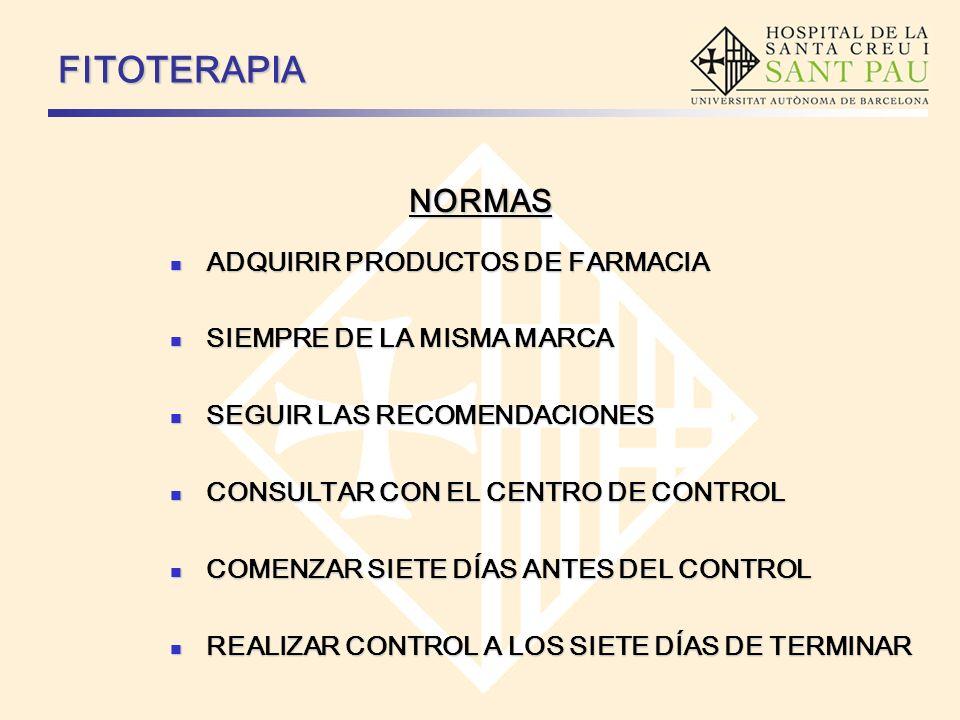 NORMAS FITOTERAPIA ADQUIRIR PRODUCTOS DE FARMACIA ADQUIRIR PRODUCTOS DE FARMACIA SIEMPRE DE LA MISMA MARCA SIEMPRE DE LA MISMA MARCA SEGUIR LAS RECOME