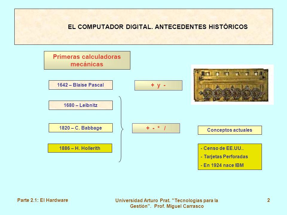 Parte 2.1: El Hardware Universidad Arturo Prat.