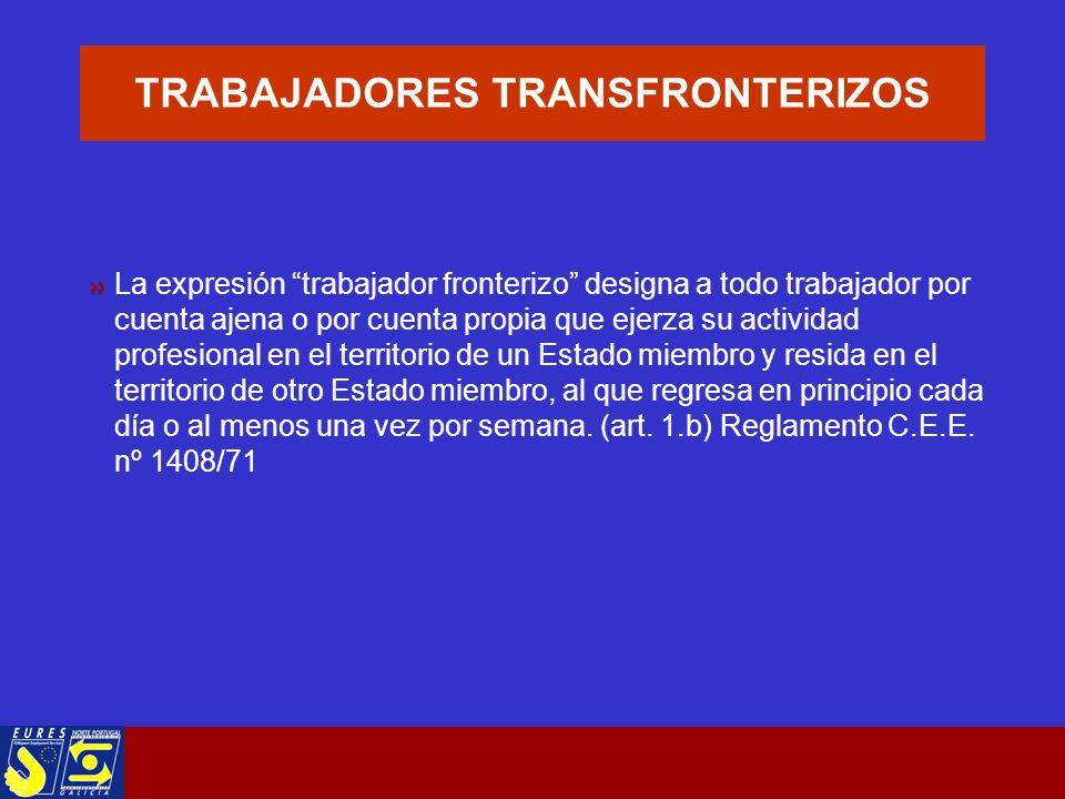 EURES TRANSFRONTEIRIZO GALICIA- NORTE PORTUGAL Facilita a los trabajadores el paso de la frontera G-NP para trabajar o recibir formación.
