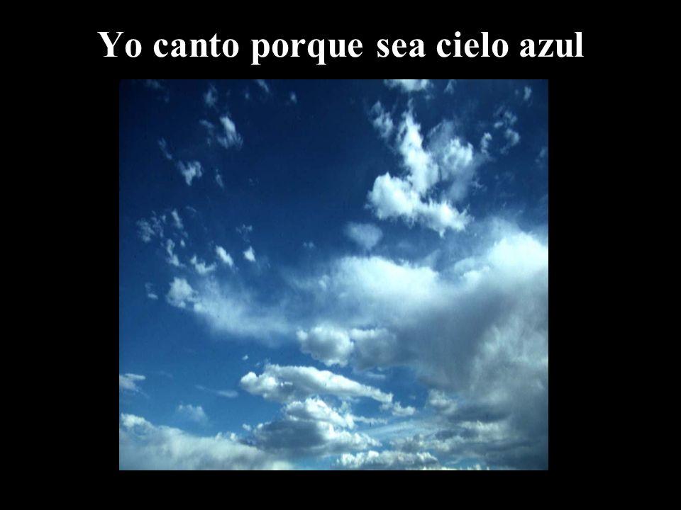 Yo canto porque sea cielo azul