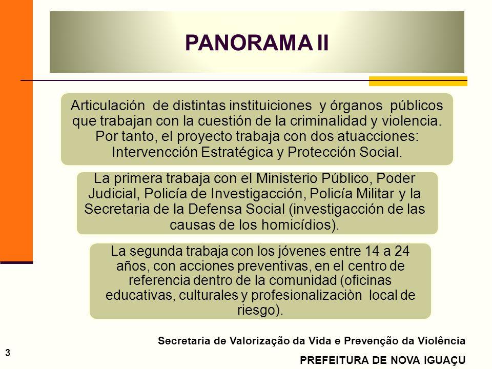 Secretaria de Valorização da Vida e Prevenção da Violência PREFEITURA DE NOVA IGUAÇU 3 Articulación de distintas instituiciones y órganos públicos que trabajan con la cuestión de la criminalidad y violencia.