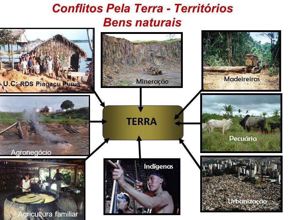 CONFLICTOS EN LA AMAZONIA Madereras Pecuaria Mineria Agronegócio Obras OBRAS DE INFRAESTRUCTURA. EXPLOTACION HIDROCARBUROS Y OTROS RECURSOS INADECUADA
