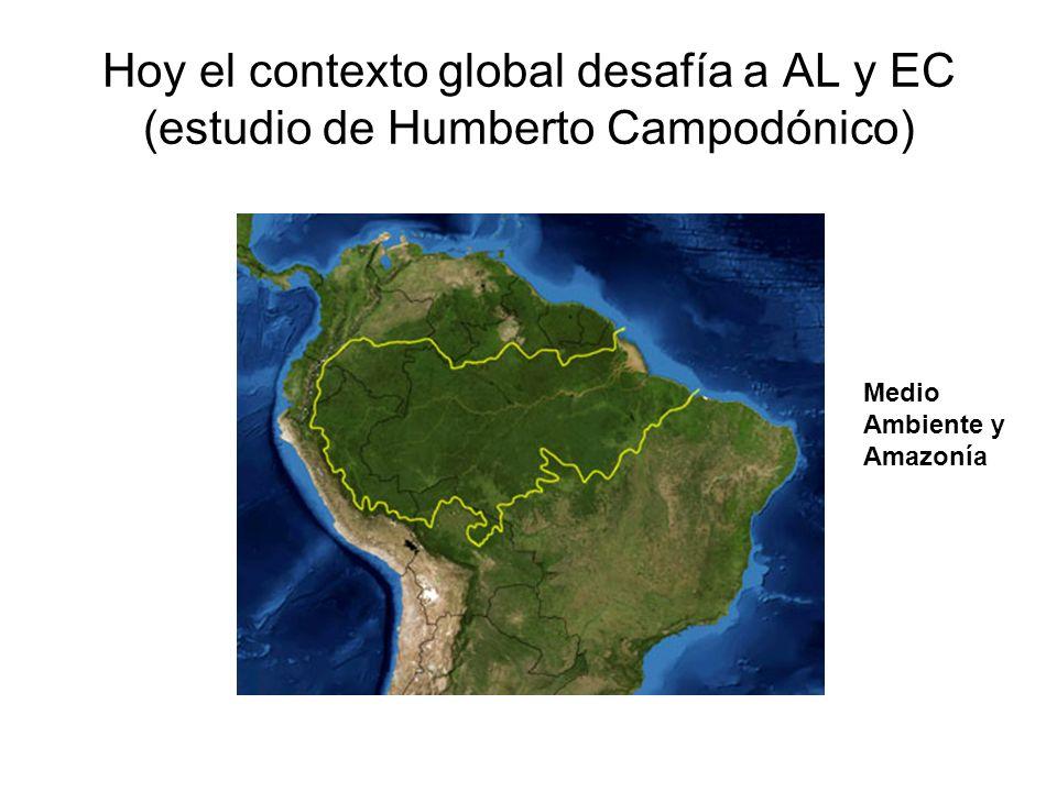 Hoy el contexto global desafía a AL y EC (estudio de Humberto Campodónico) Medio Ambiente y Amazonía