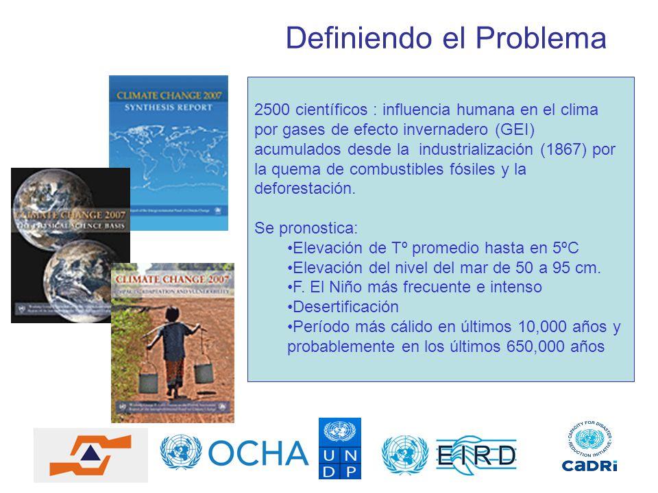 Definiendo el Problema 2500 científicos : influencia humana en el clima por gases de efecto invernadero (GEI) acumulados desde la industrialización (1