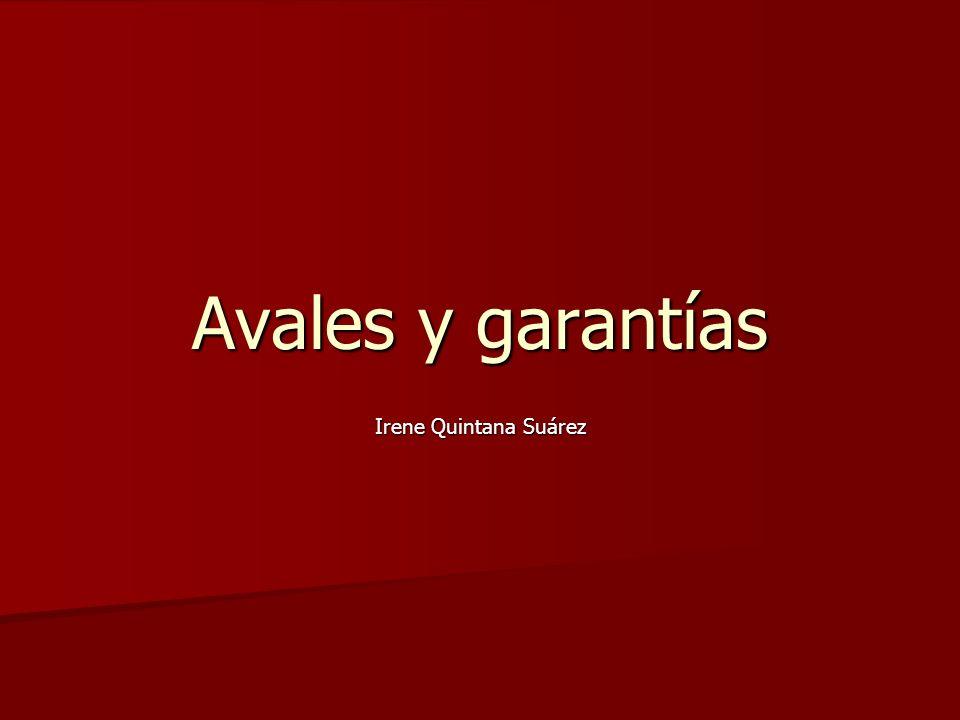 Avales y garantías Irene Quintana Suárez