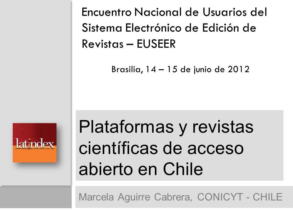 12 eQuipu.Definido como red de revistas chilenas ISI.