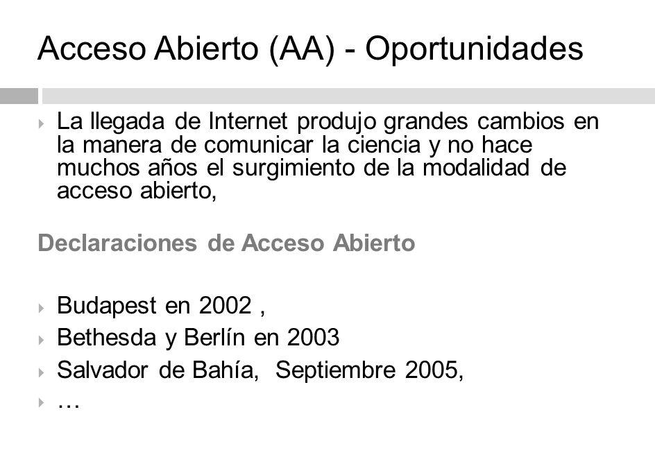 Número de revistas electrónicas vigentes* 24 * Fuente: ISSN 2012.