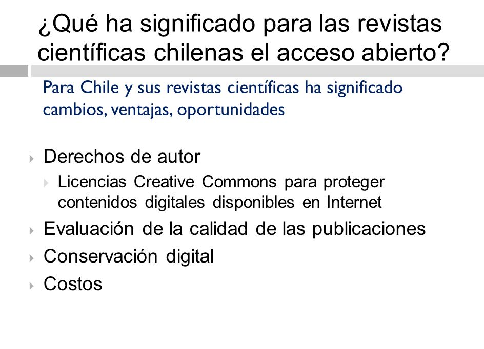 17 Plataformas de acceso abierto en Chile