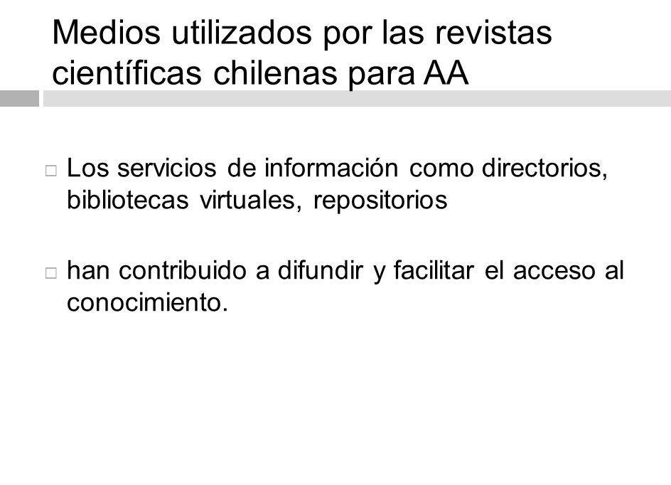 19 Plataformas de acceso abierto en Chile